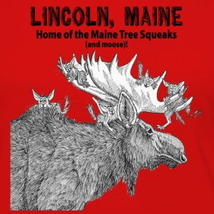 Maine Tree Squeaks with Moose - Women's Premium Long Sleeve T-Shirt