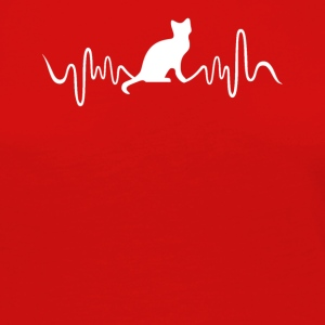 Cat Heartbeat Tee Shirts - Women's Premium Long Sleeve T-Shirt