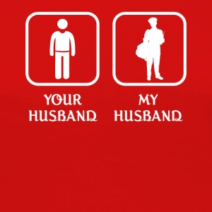 Husband Mailman Love- cool shirt,geek hoodie,tank - Women's Premium Long Sleeve T-Shirt