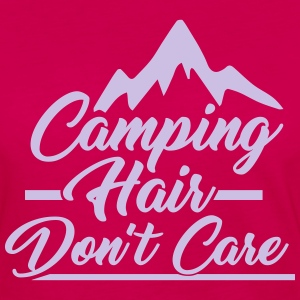 Camping Hair Don't Care for Outdoor Campers - Women's Premium Long Sleeve T-Shirt