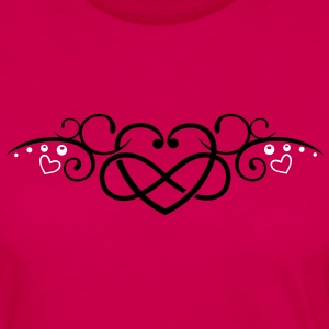 Heart with infinity, Tribal & tattoo style. - Women's Premium Long Sleeve T-Shirt