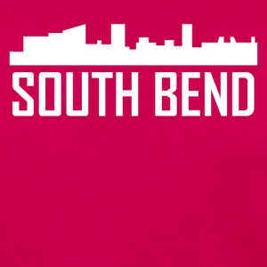 South Bend Indiana City Skyline - Women's Premium Long Sleeve T-Shirt