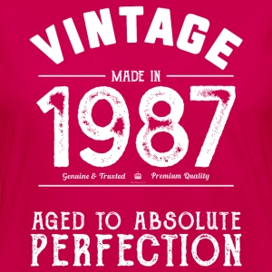 1987 Aged To Perfection 30th Birthday Present - Women's Premium Long Sleeve T-Shirt