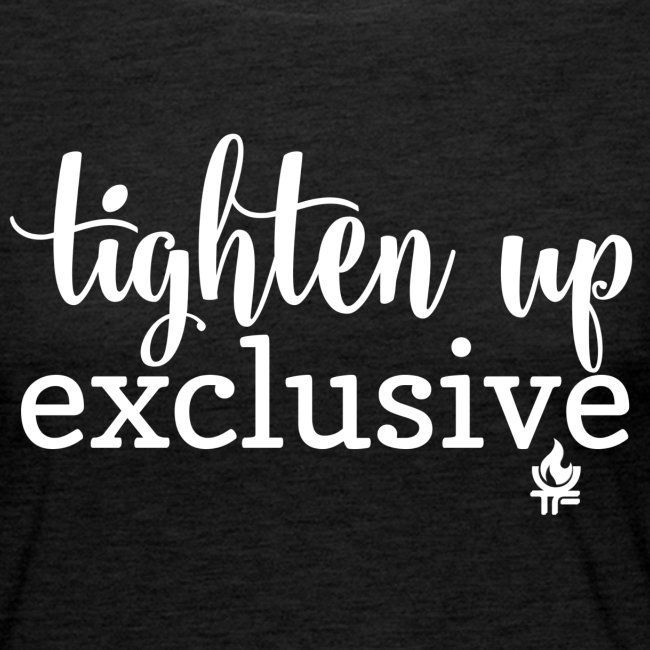 tighten up exclusive white clear