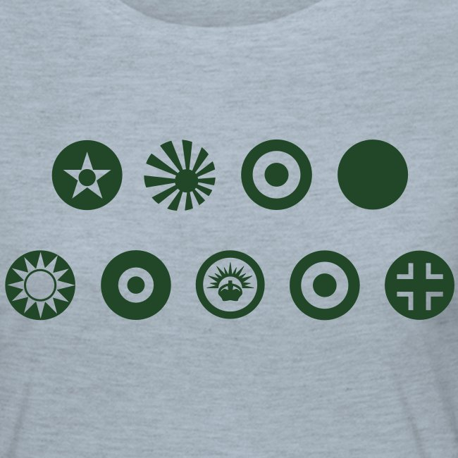Axis & Allies Country Symbols - One Color