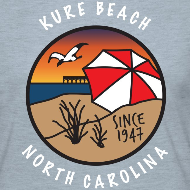 Kure Beach Sunrise-White Lettering-Front Only
