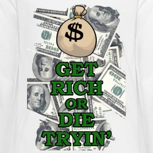Amazing Get Rich or Die Trying design! - Kids' Premium Long Sleeve T-Shirt