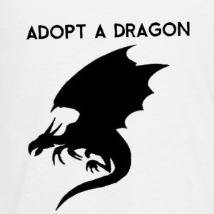 Adopt a Dragon Novelty Fantasy Fan Shirt - Kids' Premium Long Sleeve T-Shirt