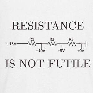 Resistance is not Futile - Kids' Premium Long Sleeve T-Shirt
