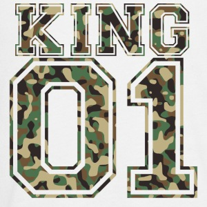 King_01_camo_2 - Kids' Premium Long Sleeve T-Shirt