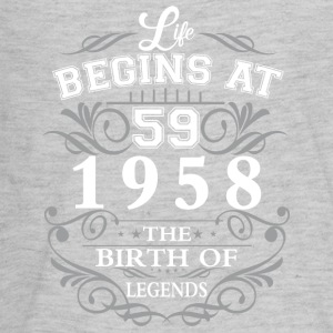Life begins 59 1958 The birth of legends - Kids' Premium Long Sleeve T-Shirt