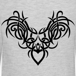 Tribal ornament with wings and heart. - Kids' Premium Long Sleeve T-Shirt