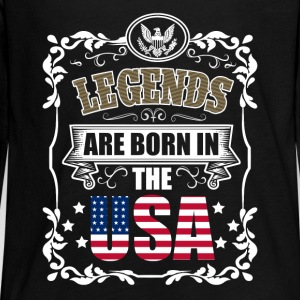 Legends are born in the USA - Kids' Premium Long Sleeve T-Shirt