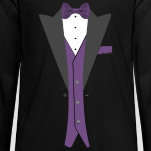 Tuxedo Purple Bowtie - Kids' Premium Long Sleeve T-Shirt