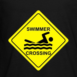 Swimmer Crossing - Kids' Premium Long Sleeve T-Shirt