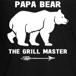 Papa Bear The Grill Master T Shirt - Kids' Premium Long Sleeve T-Shirt