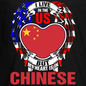 I Live In The Us But My Heart Is In Chinese - Kids' Premium Long Sleeve T-Shirt