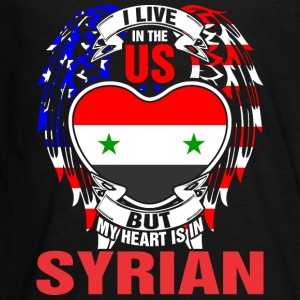 I Live In The Us But My Heart Is In Syrian - Kids' Premium Long Sleeve T-Shirt