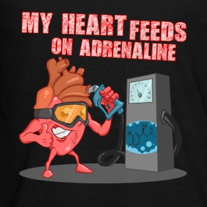 My heart feeds on adrenaline - Kids' Premium Long Sleeve T-Shirt