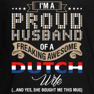 Im A Proud Husband Of A Freaking Awesome Dutch Wif - Kids' Premium Long Sleeve T-Shirt