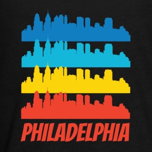 Retro Philadelphia PA Skyline Pop Art - Kids' Premium Long Sleeve T-Shirt