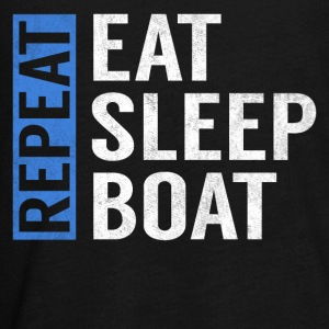Eat Sleep Boat Repeat Funny Sailing Boating Gift - Kids' Premium Long Sleeve T-Shirt