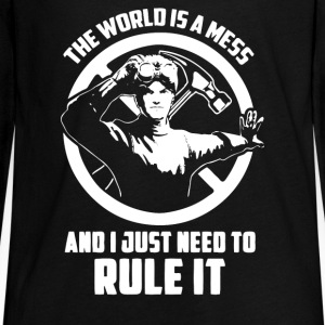 the world is a mess - Kids' Premium Long Sleeve T-Shirt