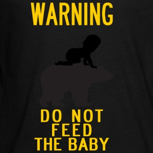 warning do not feed the bear and baby YELLOW - Kids' Premium Long Sleeve T-Shirt
