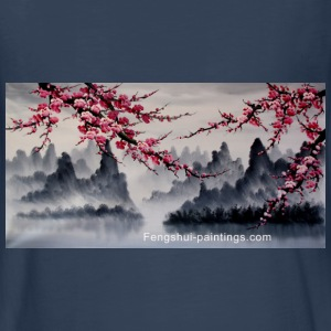 cherry-blossom-painting - Kids' Premium Long Sleeve T-Shirt