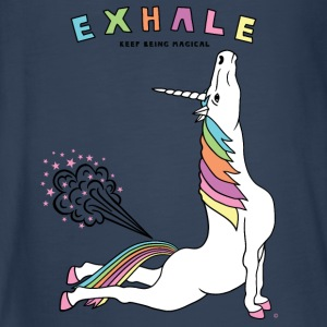 Cobra Pose Unicorn Exhale outline - Kids' Premium Long Sleeve T-Shirt