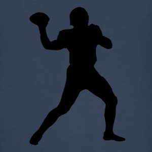 Football Quarterback Silhouette - Kids' Premium Long Sleeve T-Shirt