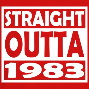 34th Birthday T Shirt Straight Outta 1983 - Kids' Premium Long Sleeve T-Shirt