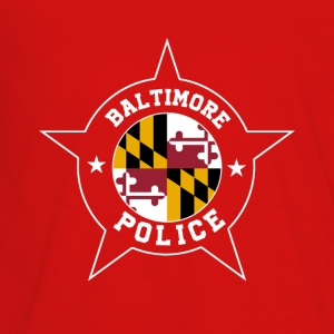 Baltimore Police T Shirt - Maryland flag - Kids' Premium Long Sleeve T-Shirt