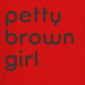 Petty Brown Girl Off Shoulder - Kids' Premium Long Sleeve T-Shirt