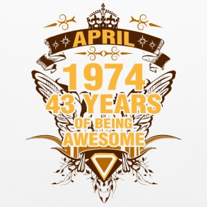 April 1974 43 Years of Being Awesome - Pillowcase