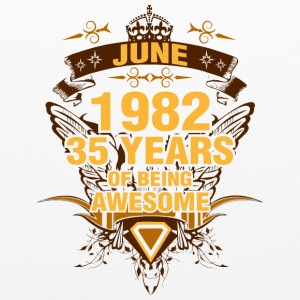 June 1982 35 Years of Being Awesome - Pillowcase