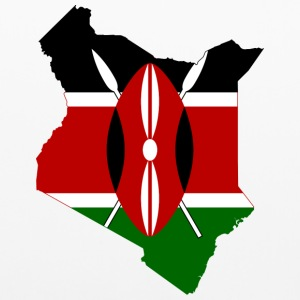 Flag map of Kenya - Pillowcase