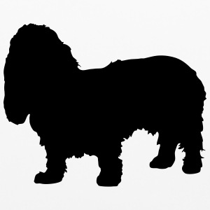 Vector dog Silhouette - Pillowcase