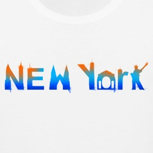 New York Skyline Graffiti - Men's Premium Tank