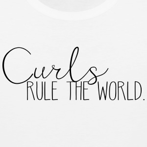 Curls Rule the World - Men's Premium Tank