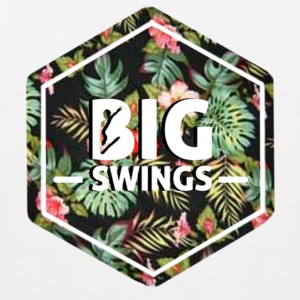 Big Swings Floral Design - Men's Premium Tank