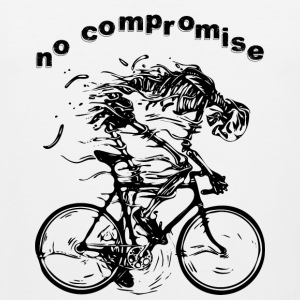 NO COMPROMISE bicycle race racer skeleton tour - Men's Premium Tank