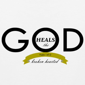 God Heals the Broken Hearted - Men's Premium Tank