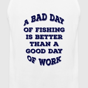 Fishing Over Work! - Men's Premium Tank