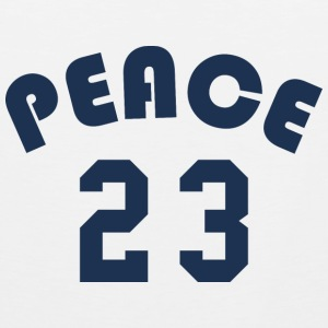 Peace - Team Design (Navy Blue Letters) - Men's Premium Tank