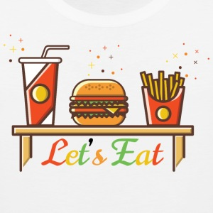 Hamburger T-Shirt Design With Fries - Men's Premium Tank