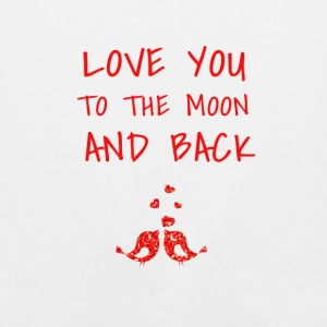 love you to the moon and back - Men's Premium Tank