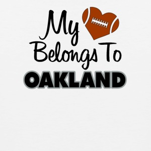 My heart belongs to Oakland - Men's Premium Tank