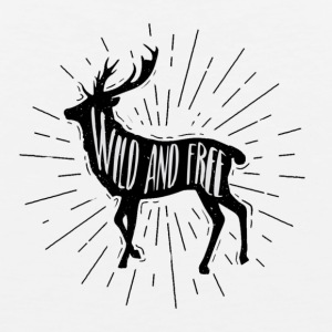 Wild and Free Outdoorsy Deer - Men's Premium Tank