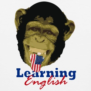 Learning English Chimpa - Men's Premium Tank